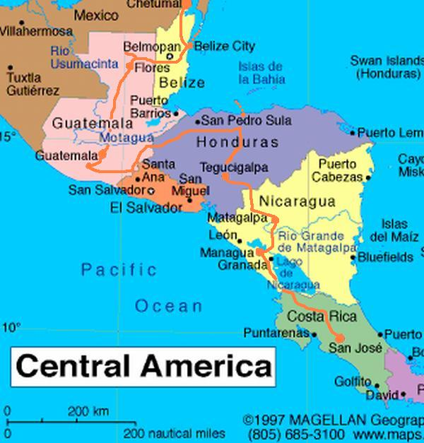Maps World Map Costa Rica - Map of costa rica world